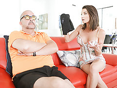 Hot Cougar Silvia Saige was peed that her son-in-law was hogging the bathroom. Even morese when she finally got into it and say his stinky jizm rag out for everyone to see. Silvia had to handle this herself and went to his bedroom catching him mid jerk. S